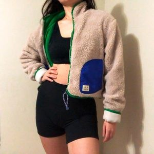 Urban outfitters Cropped Fleece Jacket